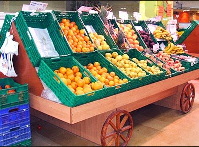 Produce Cart Wagon Wheels 1