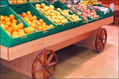 Produce Cart Wagon Wheels 2