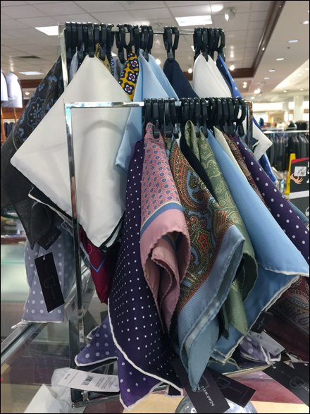 Rectilinear Pocket Square Rack in Retail