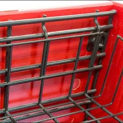 Basket Tag Or Label Holder Fixtures Close Up