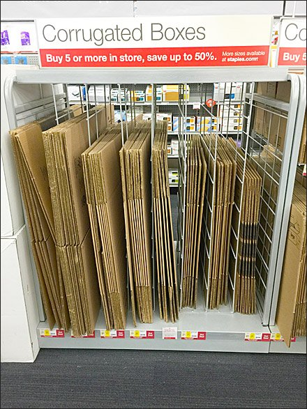Staples Corrugated Box Dividers Front