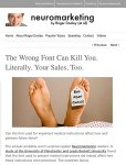 The Wrong Font Can Kill You. Neuromarketing