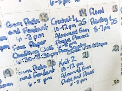 Whiteboard Calendar at Michael's Crafts