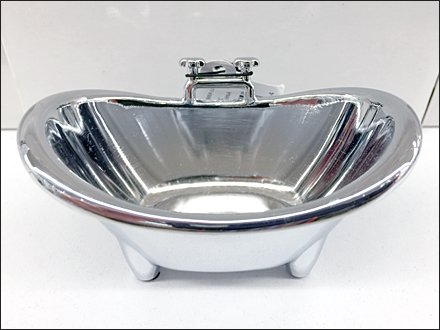 Bathtub Miniature With Side-Mount Faucet Detail