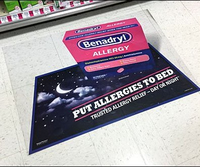 Benadryl Floor Graphic 1