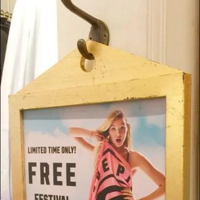Clothes Hook Hung Sign at Pink Main