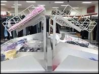 Declined Open Wire Dress Shirt Rack 6