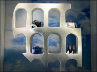 Fendi Analogia Project: Colosseum Purse Propped