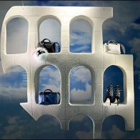 Fendi Analogia Project: Colosseum Purse Propped