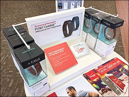 FitBit WristBand Right Angle POP Display Main