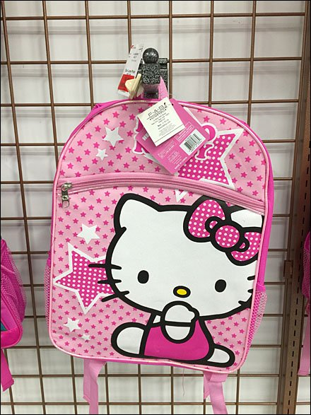 Hello Kitty Silver-Vein Faceout Overall