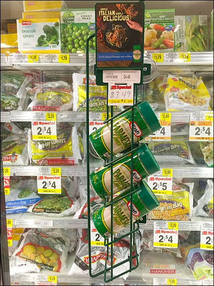 Kraft Parmesan Cooler-Door Merchandiser Rack