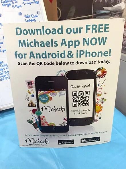 Michael's App Download by QR Code