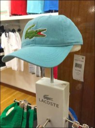 Lacoste Branded Baseball Cap Stand