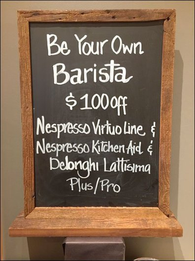 Nespresso Be Your Own Barista Detail