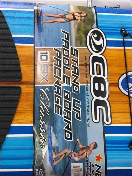 Paddle Board Pallet Rack Horizontal Dispaly Signage