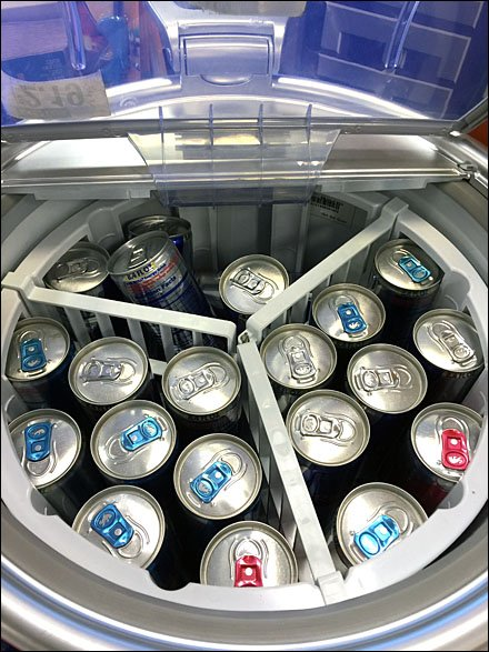 Redbull Rolling Point-of-Sale Cooler