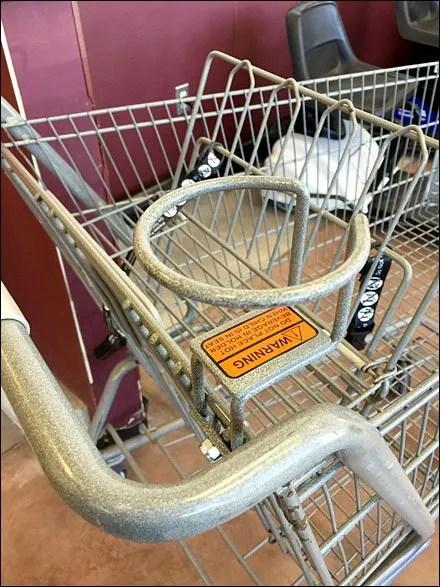 Hot Beverage Holder for Shopping Carts