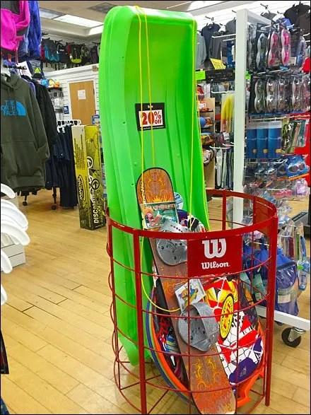 Wilson Snow Boards and Sleds Bulk Binned Main