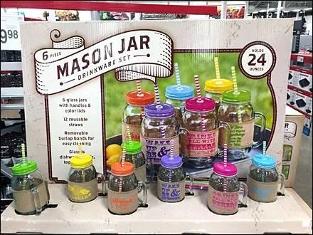 Mason Jar Summer Glass Set Overall