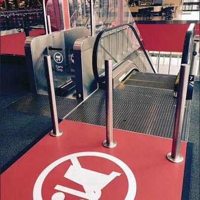 Target No Carts Escalator