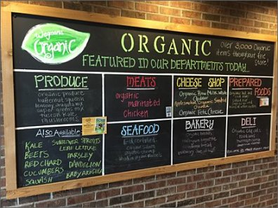3000 Organic Items at Wegmans Overall