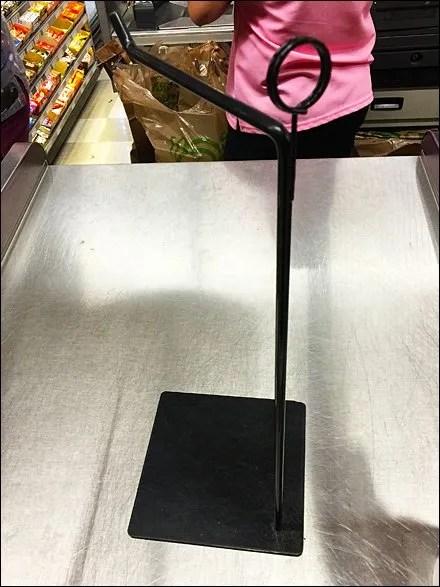 Freestanding Cashwrap Shopping Bag Arm