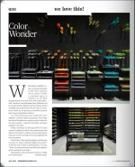"Pegboard Plug-In Dowels and Shelves - Images Courtesy of Design:Retail ""Color Wonder"" July 2015"