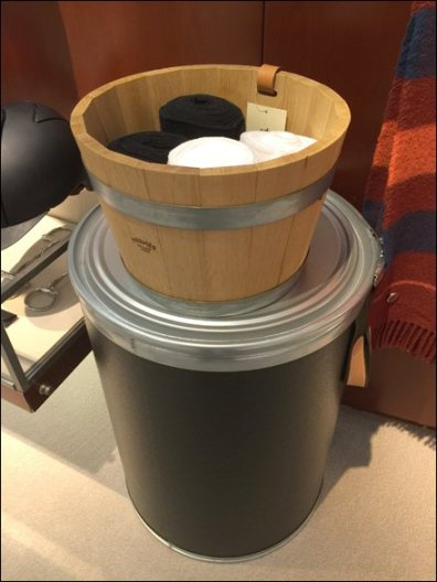 Hermes Wooden Bucket as Bin 1