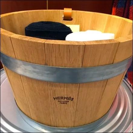 Hermes Wooden Bucket as Bin Main