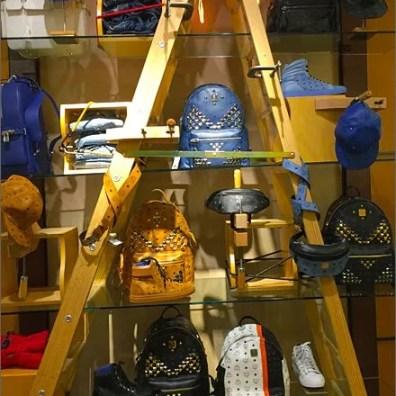 MCM Bag Climbs A Brand Ladder