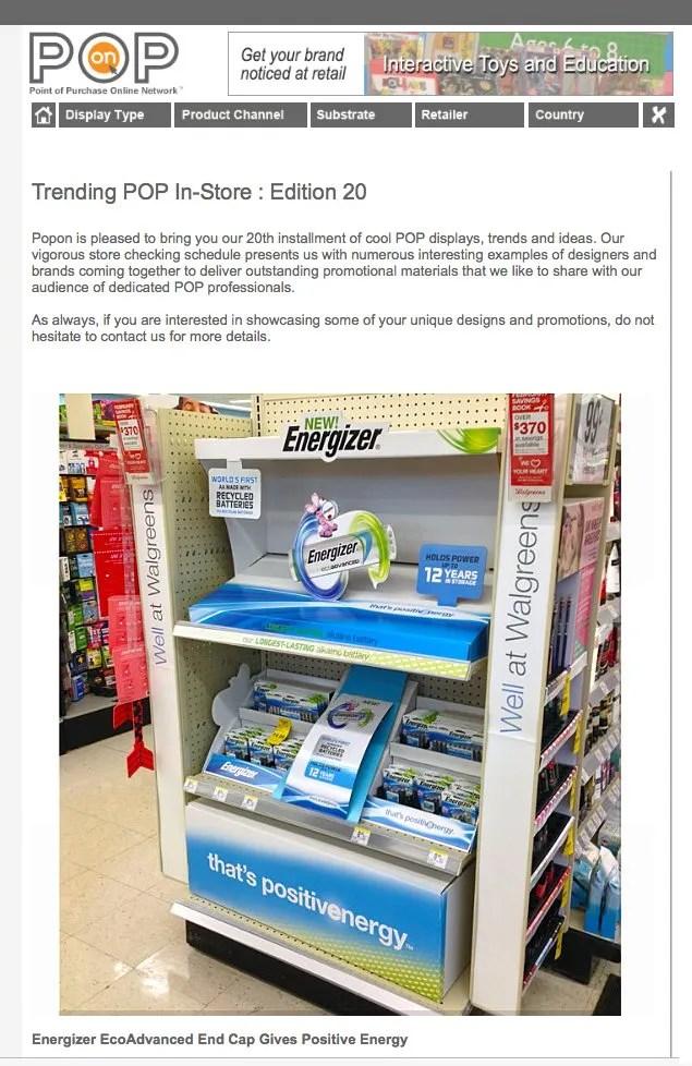 Trending Energizer Battery POP In-Store