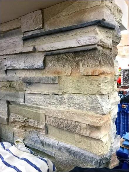 Stone Wall Display