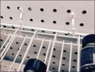 Gravity-Feed Pegboard Paint Rack