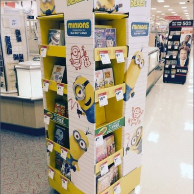 Minion Mascot Back-To-School Merchandising