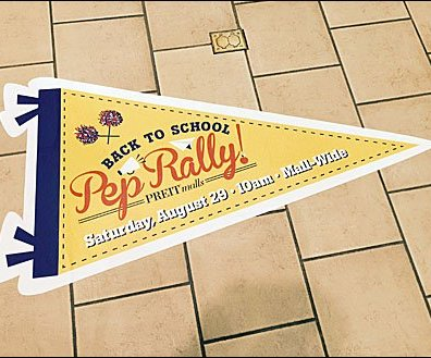 Back-To-School Pep Rally Mall Floor Graphic