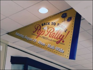 Back-To-School Pep Rally Mall Ceiling Pennant 3