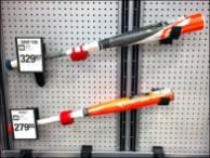 Easton Baseball Bat Pegboard Hooks