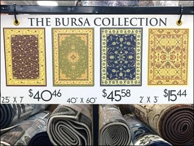 Bursa Carpet Colection Signage 2