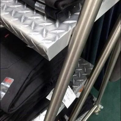 Macys Diamond Plate Laddered Shelves