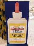Glue Bottle Kickstart Back-to-School Retail Sign