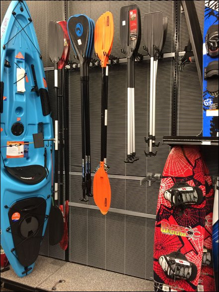Kayak Paddle Undulating Hooks Bar Mount