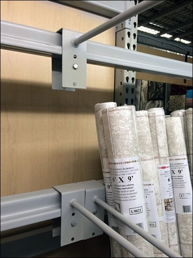 Linoleum Roll Dividers For Pallet Rack 2