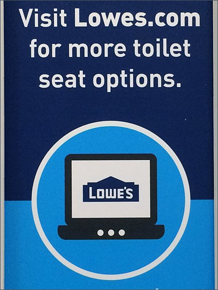 Lowes Toilet Seat Options Cross Sell to Online