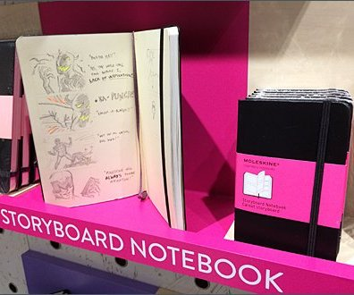 Moleskine Storyboard Shelf Merchandising