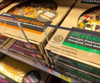 Oversize Acrylic Pizza Product Stops