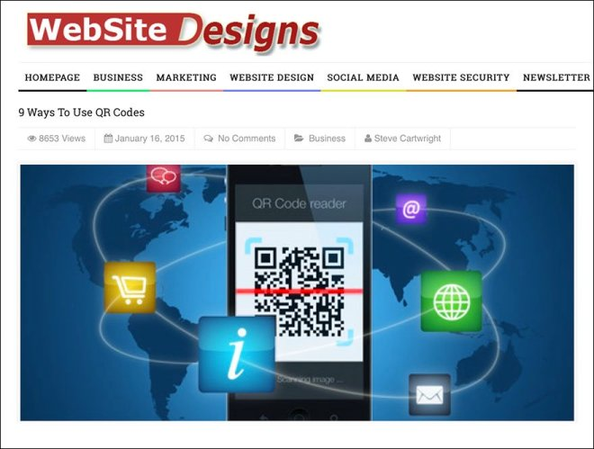 9 Ways to Use QR Codes via WebSite Design