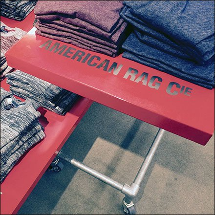 American Rag Flat-Surface Shelf-Top Branding