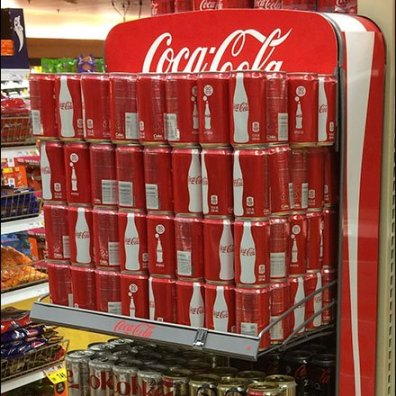 Coca-Cola Arched Wire Rack Shelf Support 2