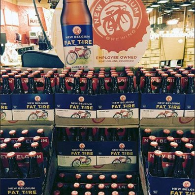 Fat Tire Branded Beer Overall Display 1